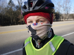Riding in minus 13C, Arkansas