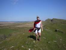 Life is always (always) better with a cape. At mile 61 on the trail.