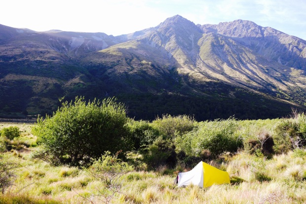 Setting up for the night in the Queenstown Lakes district