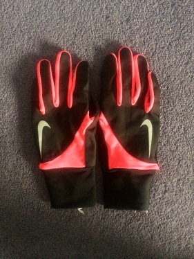 Nike running gloves (To make sure I can High-Five at all times)