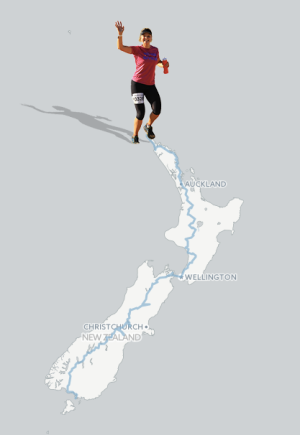 The final route - 1,911 miles on the Te Araroa trail