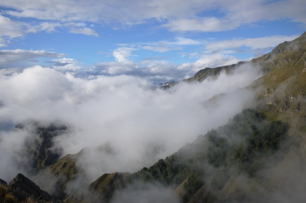 Above the clouds on Breast Hill track