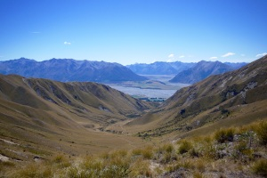 Looking down towards the big beasts Rakaia