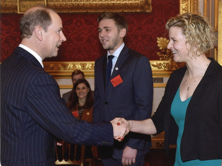Handshake with Prince Edward - St James' Palace