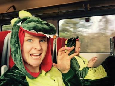 Dino's on a train Waterloo > Poole