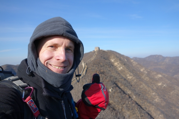 2015 grant winner Richard Fairbrother: Walked a seldom visited section of the Great Wall of China