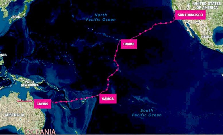 Pacific-Ocean-Route-Map-Women-Four-Rowing-Record